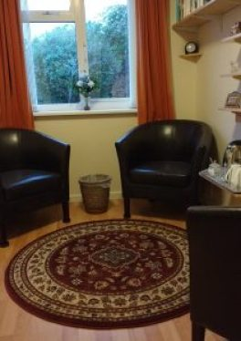 A picture of my consulting room where your counselling sessions will take place