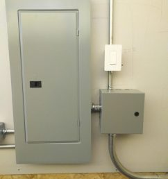 commercial subpanel install with light control contactor on smart switch [ 773 x 1030 Pixel ]