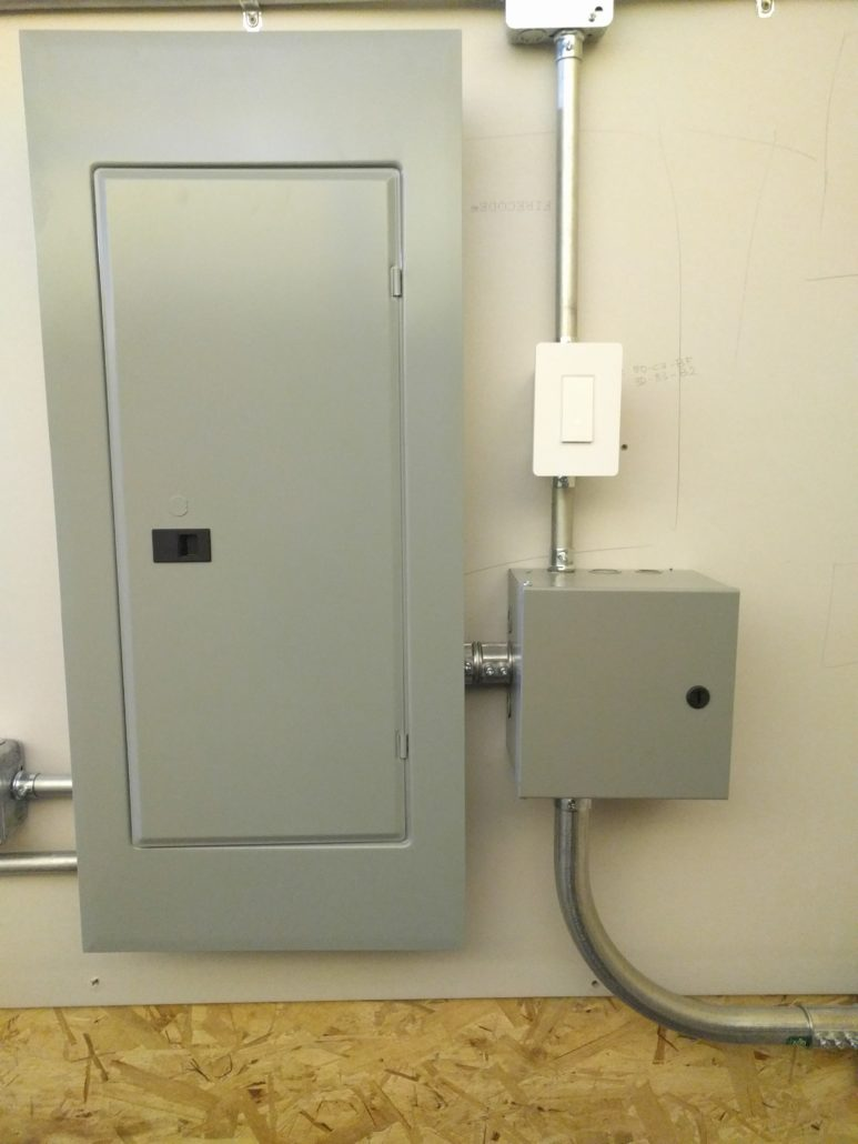medium resolution of commercial subpanel install with light control contactor on smart switch