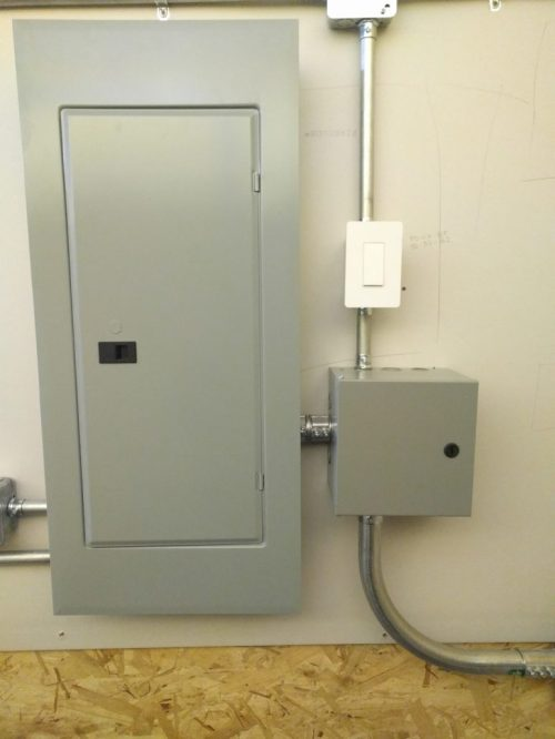 small resolution of commercial subpanel install with light control contactor on smart switch