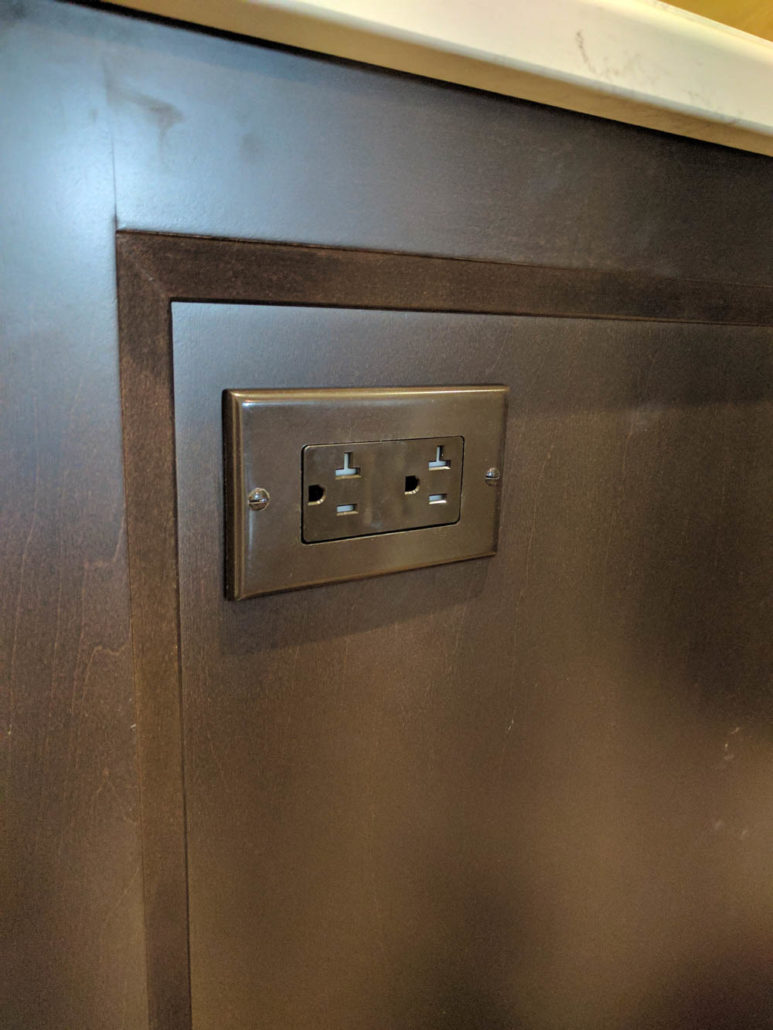 hight resolution of kitchen island outlet