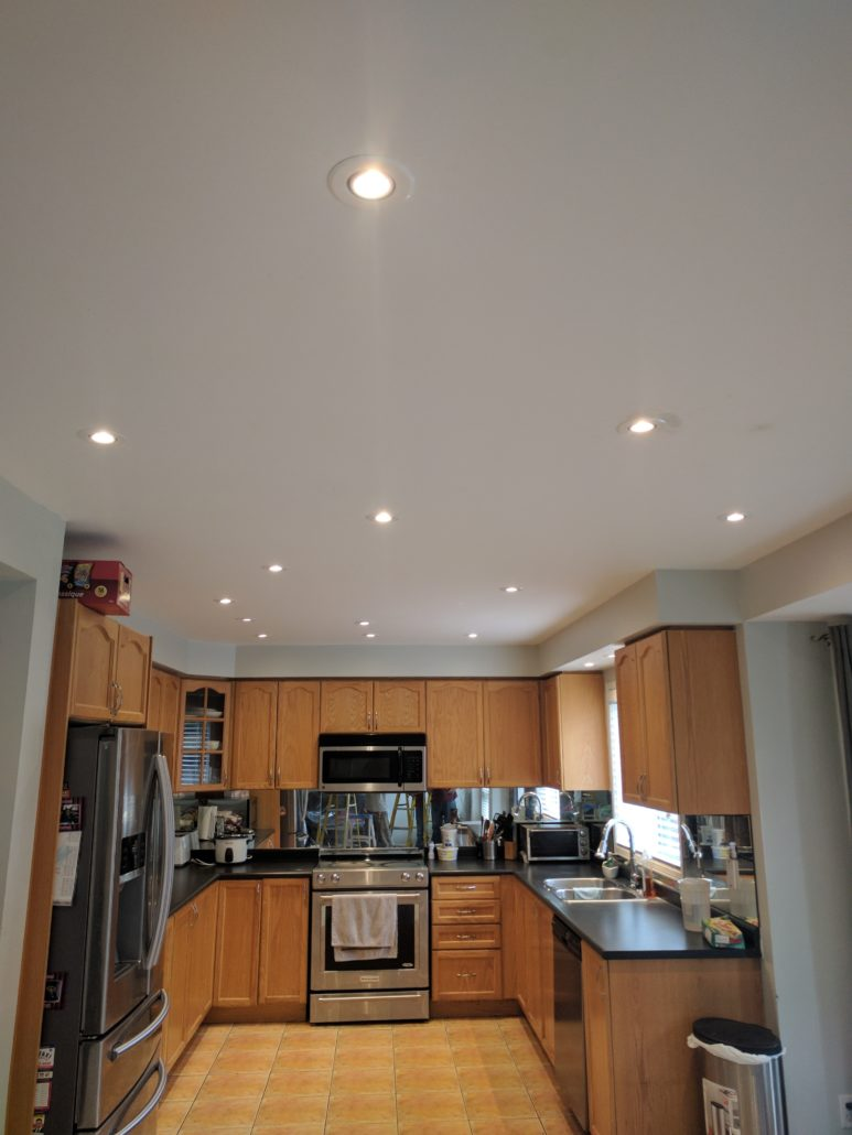 pot lights for kitchen titanium knives light installations effective electrical condo and chandlier