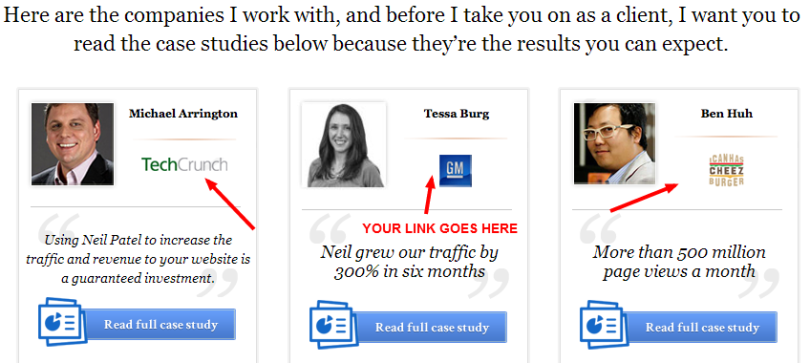 USING TESTIMONIALS TO GAIN BACKLINKS