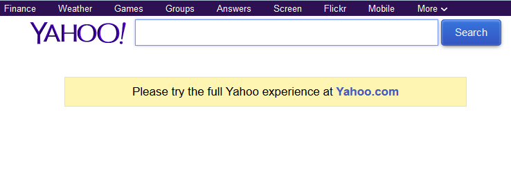 search on yahoo