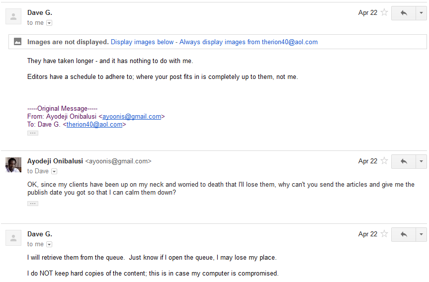 Discussion followed via email 13