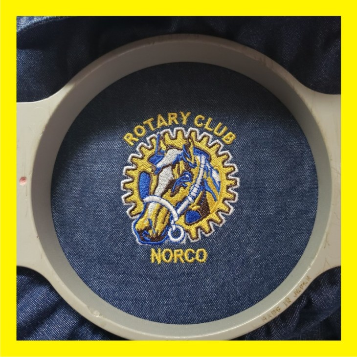 Custom Embroidery for Rotary Club