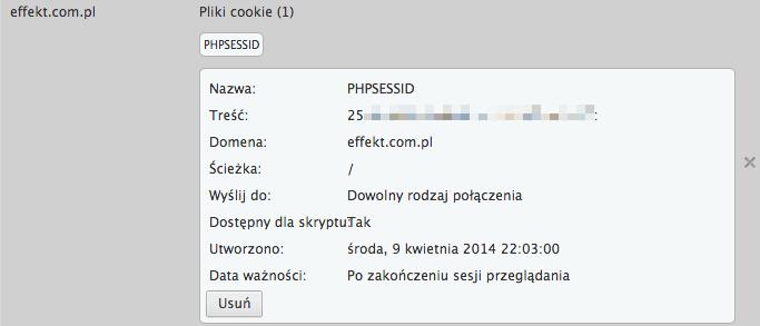 ciasteczko phpsessid