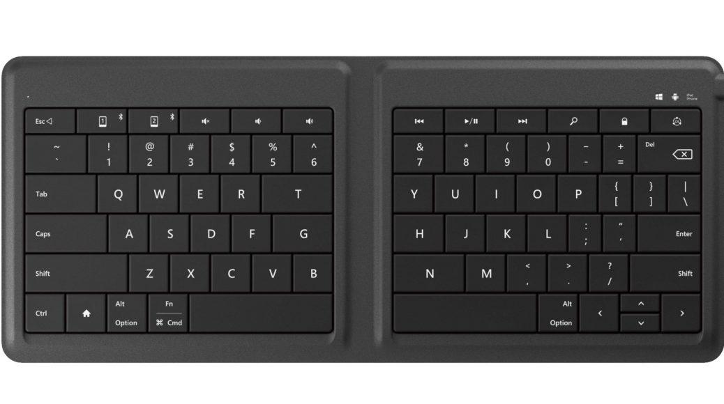 Microsoft Universal Foldable Keyboard – Key layout