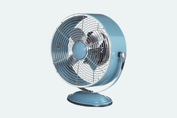 DecoBREEZE Retro Swivel Fan