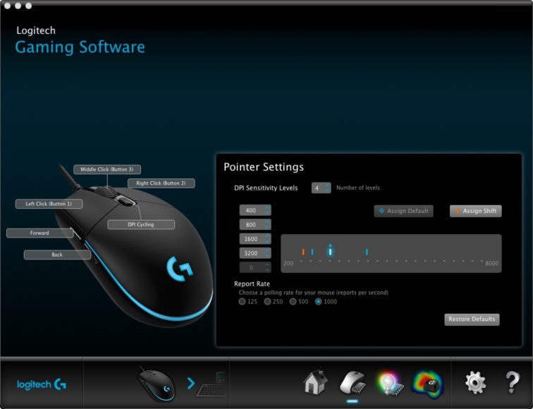 Logitech G Pro Wireless – Software