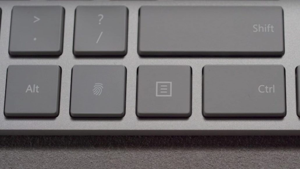 Microsoft Modern Keyboard with Fingerprint ID - Solida costruzione