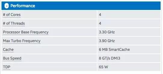 Quali sono le specifiche chiave del processore?