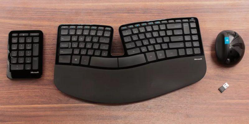 Microsoft Sculpt Ergonomic Desktop: miglior tastiera ergonomica per lavoro