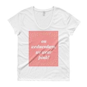 """Ladies' """"On Wednesday We Wear Pink"""" Roadtrip Tee"""