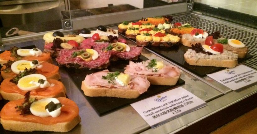 Treats on offer in the interval at Musikverein