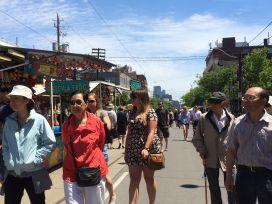 Taste of Little Italy pedestrian walkway: the whole street!