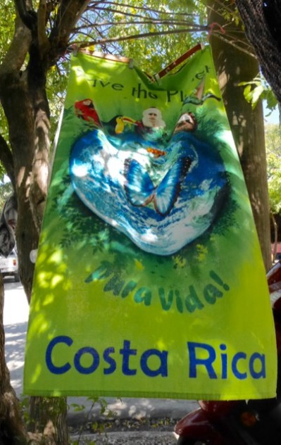 Banner on Tamarindo main street