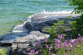 Limestone under water