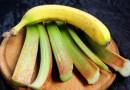 bananes, rhubarbe