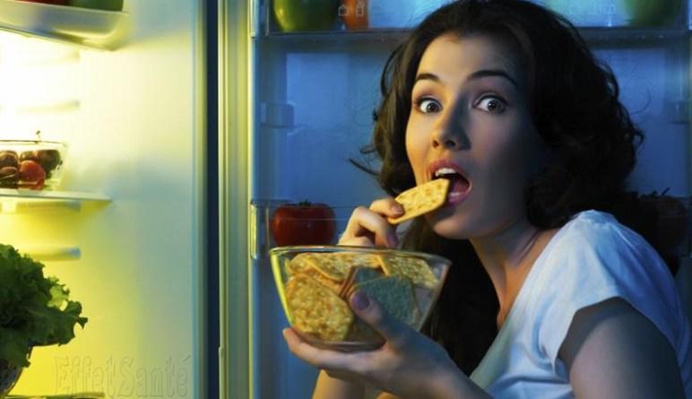 manger tard, conséquences manger tard, gain de poids