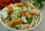 Salade au poulet et aux champignons - aucun invité ne manquera cet apéritif.