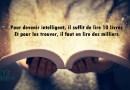 Pour devenir intelligent, il suffit de lire 10 livres Et pour les trouver, il faut en lire des milliers