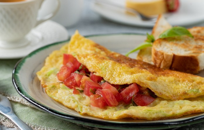 recette santé, déjeuner santé, omelette