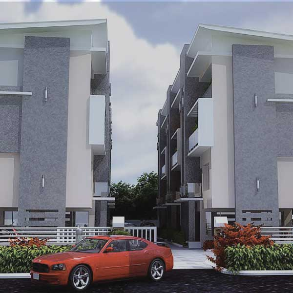 2 BLOCKS OF 6 UNITS 5-BEDROOM TERRACED TRIPLEX APARTMENTS AT ABIMBOLA COURT, OPEBI Lagos Nigeria