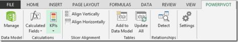 PowerPivot tab
