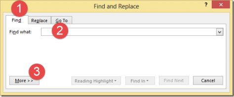 Find highlighted text in Word