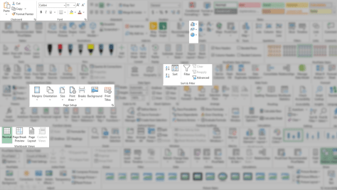 Image showing all toolbars - all buttons are blurred - except the ones you know!