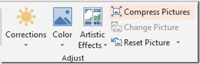 PowerPoint compress pictures