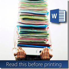 why do we still print documents