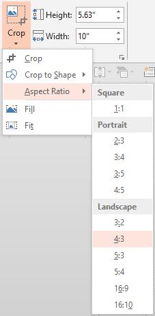 crop aspect ratio