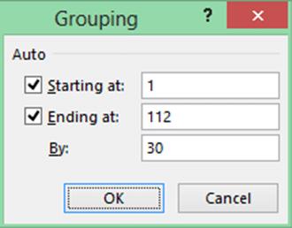 Pivot table grouping
