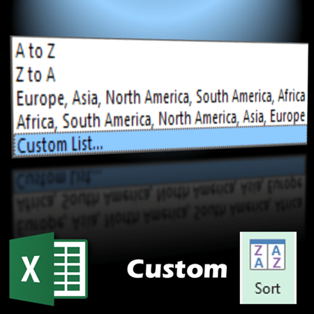 custom sorting using custom lists in pivot table