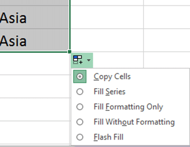 Excel copy cells