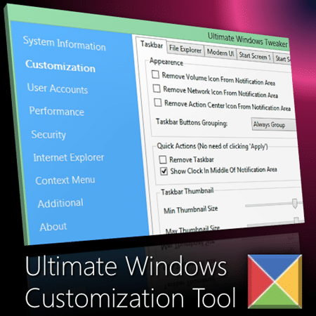 Ultimate Windows Tweaker: the Best Windows Customization Tool