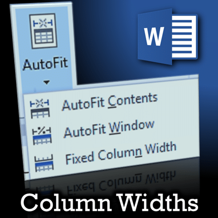 Manage column widths in Word Tables - Dr. Nitin Paranjape