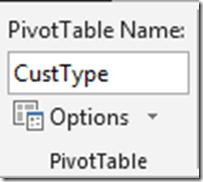 PivotTable name