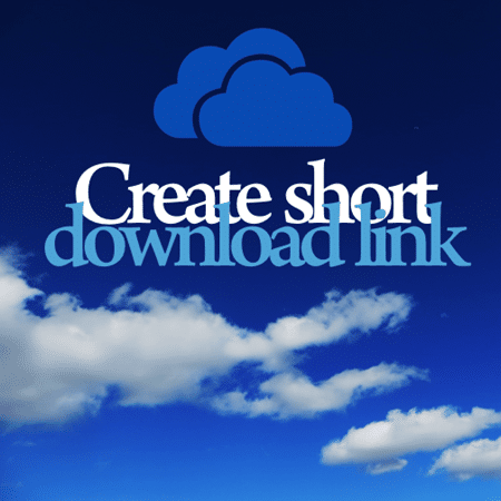 Create short links for downloads on OneDrive