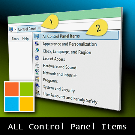 How to see all control panel items - Dr. Nitin Paranjape