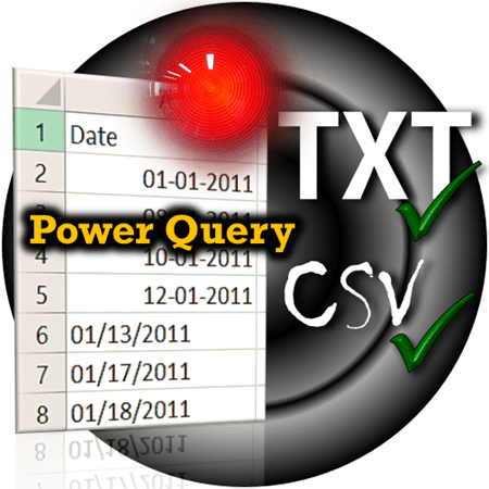 CSV import problems solved with Power Query