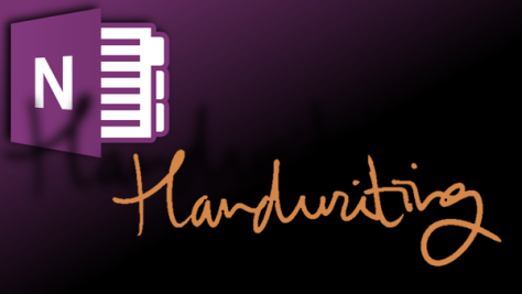 Onenote handwriting