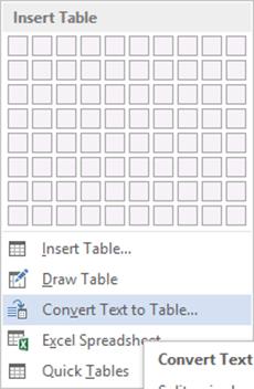 insert table