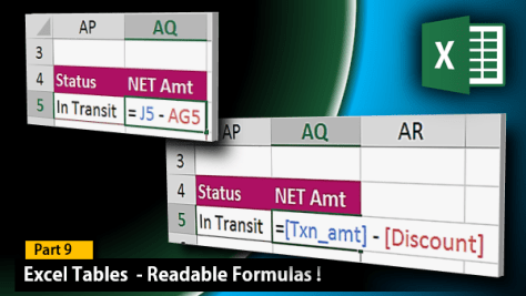 Excel tables - Readable formulas in Calculated Columns