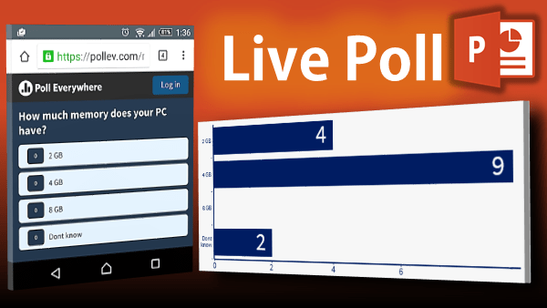 Live Polling in PowerPoint with Poll Anywhere