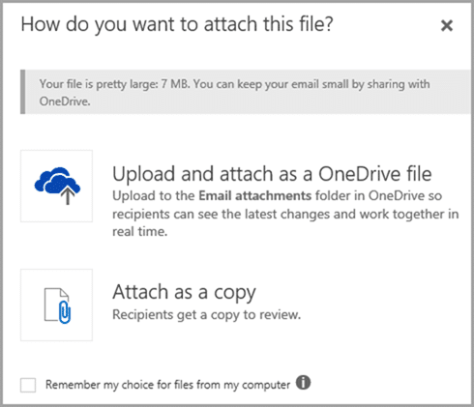 Outlook web access Email attachments