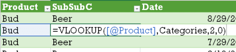 VLOOKUP based text grouping