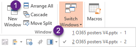 PowerPoint Editing Magic - New window option in View tab